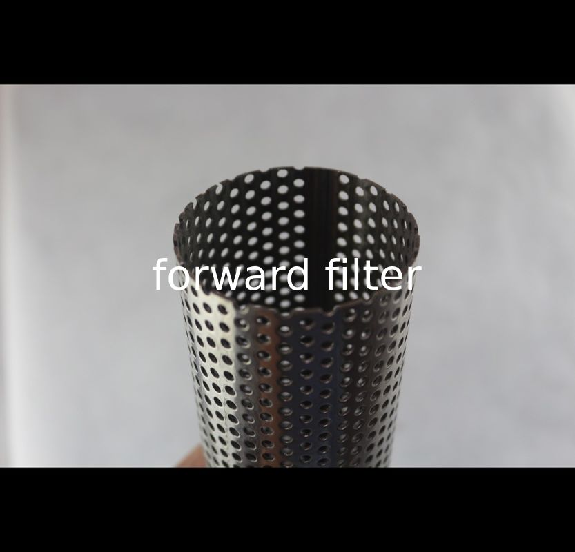 Plating Perforated Stainless Steel Tube With Powder Coating Triangle Hole Patterns