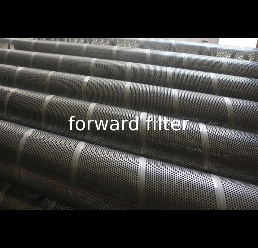 Round Hole Pattern Perforated Steel Pipe For Petrol Textile Galvanized Steel
