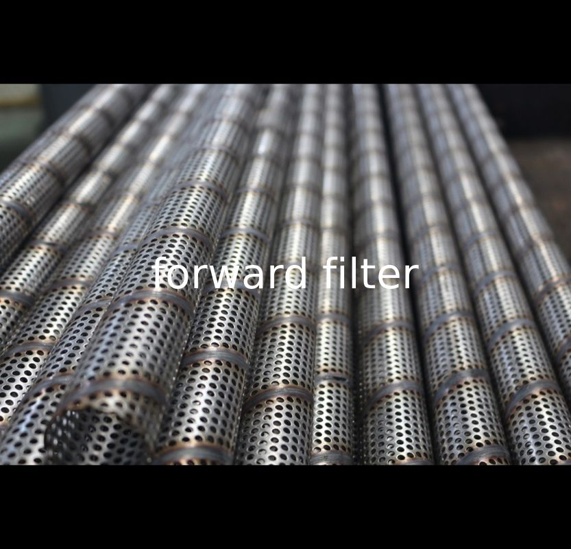 Custom Length Perforated Round Tubing 201 304 Watter Filter Seamless 30mm- 80mm