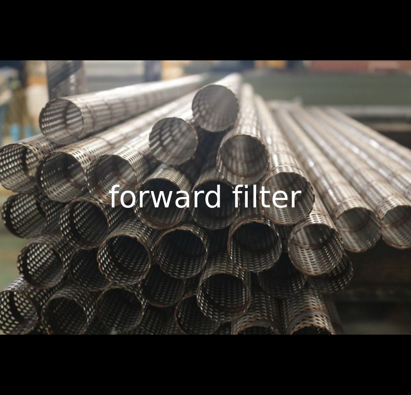 Optional 304 316 Alloy Perforated Metal Pipe Three Meters Seamless 30mm - 80mm