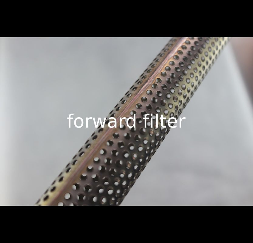 Stainless Steel Perforated Exhaust Tubing Instrument Filter ISO9001 Approved