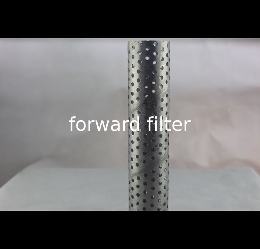 Textile Roll Perforated Stainless Tube , Instrument Filter Perforated Round Tubing