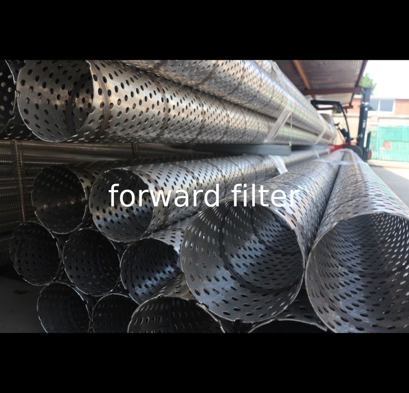 Industrial Perforated Stainless Steel Tube , 10000 Mm Perforated Round Tubing