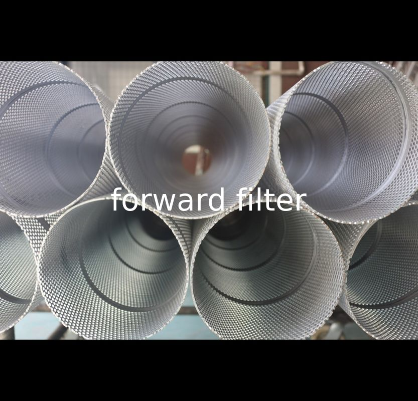 Round Perforated Exhaust Tubing , High Strength Perforated Stainless Steel Cylinder